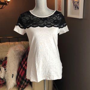 H&M lace top tee shirt